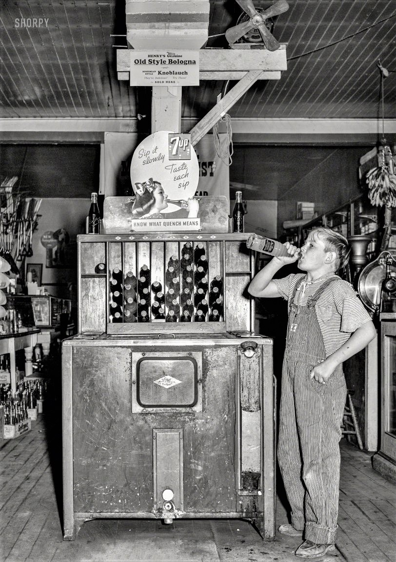 7up Sip It Slowly Placard General Store Lamville Iowa October 1939.jpg
