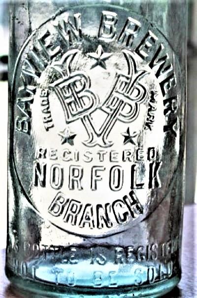 Bayview Brewery Bottle Norfolk (Virginia) Branch D.O.C. 27 1880 to 1931 Label.jpg
