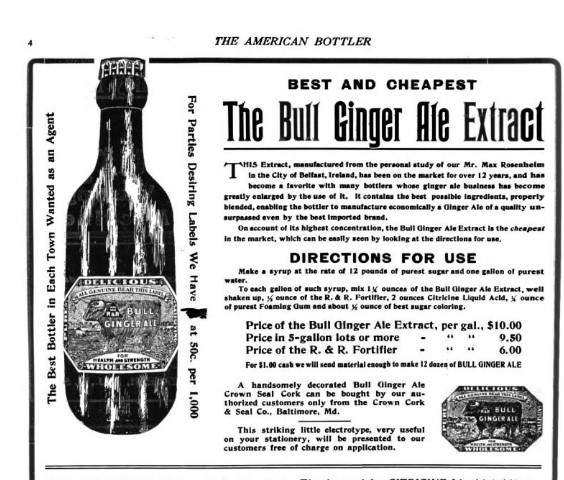 Bull Ginger Ale American Bottler 1909.jpg