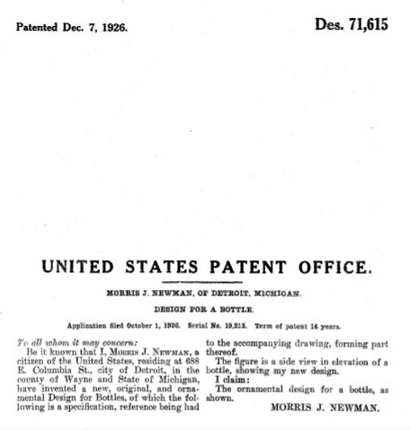 Cadillac Ginger Ale Patent Morris J Newman Text.jpg