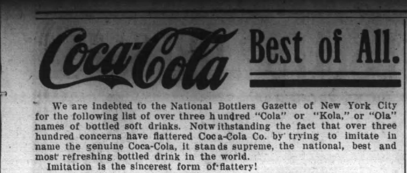 Coca Cola Ad Imatators The Monroe Journal N.C. August 15, 1919 2 (2).jpg