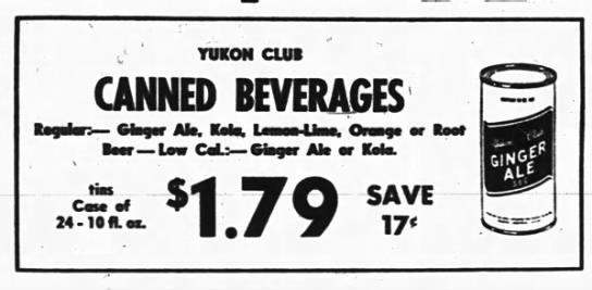 Yukon Club- The Ottawa Journal- Wednesday 18 May 1966- ad from A and P.jpg