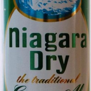 Niagara Dry pop can - High res closeup of the front of the can