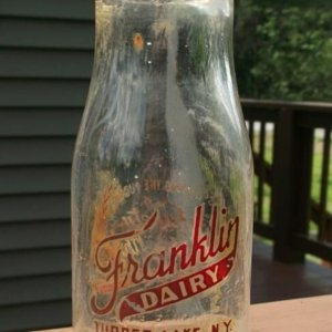 Rare ACL Franklin Dairy Half Pint